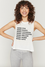Load image into Gallery viewer, SPIRITUAL GANGSTER x PURE BARRE MORE FUN MUSCLE TANK