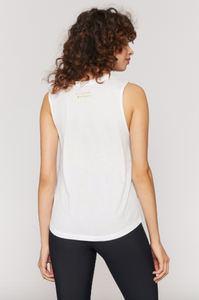 SPIRITUAL GANGSTER x PURE BARRE MORE FUN MUSCLE TANK