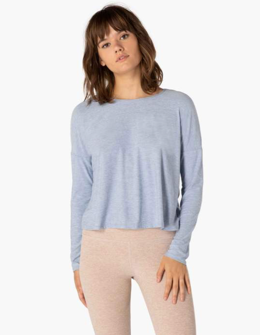 BEYOND YOGA FEATHERWEIGHT SPACEDYE PULLOVER