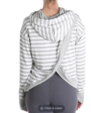 Load image into Gallery viewer, VIMMIA x PURE BARRE STRIPED HOODED SWEATSHIRT