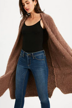 Load image into Gallery viewer, BluIvy Fuzzy Longline Cardigan