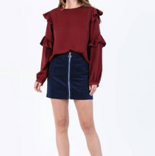 Load image into Gallery viewer, LUCCA COUTURE RUFFLE BLOUSE