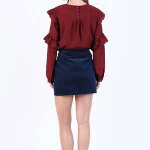LUCCA COUTURE RUFFLE BLOUSE