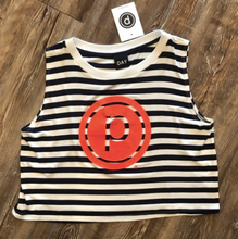 Load image into Gallery viewer, PURE BARRE STRIP CROP TANK