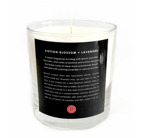 Knotty x Pure Barre Cotton Blossom + Lavender Candle