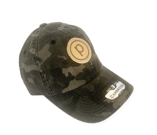 CAMO LEATHER LOGO HAT