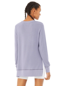 ALO GLIMPSE LONG SLEEVE PULLOVER