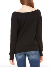 Load image into Gallery viewer, PURE BARRE OFF SHOULDER SWEATSHIRT