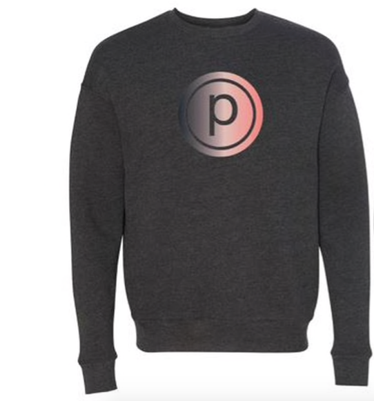 PB OMBRE FLEECE SWEATSHIRT - DARK GRAY HEATHER