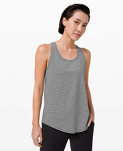 Load image into Gallery viewer, LULULEMON PLEATED BACK TANK - TONKA STRIPE