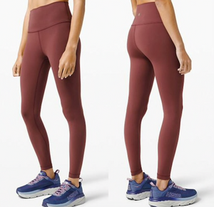 "LULULEMON WUNDER UNDER 25"" SOFT CRANBERRY"