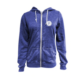 PURE BARRE BURNOUT ZIP UP HOODIE