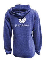 Load image into Gallery viewer, PURE BARRE BURNOUT ZIP UP HOODIE