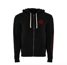 Load image into Gallery viewer, PURE BARRE BLACK ZIP UP