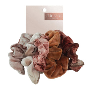KITSCH 5-PACK SCRUNCHIES - RUST