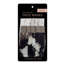 Load image into Gallery viewer, KITSCH 3-PACK COTTON MASKS