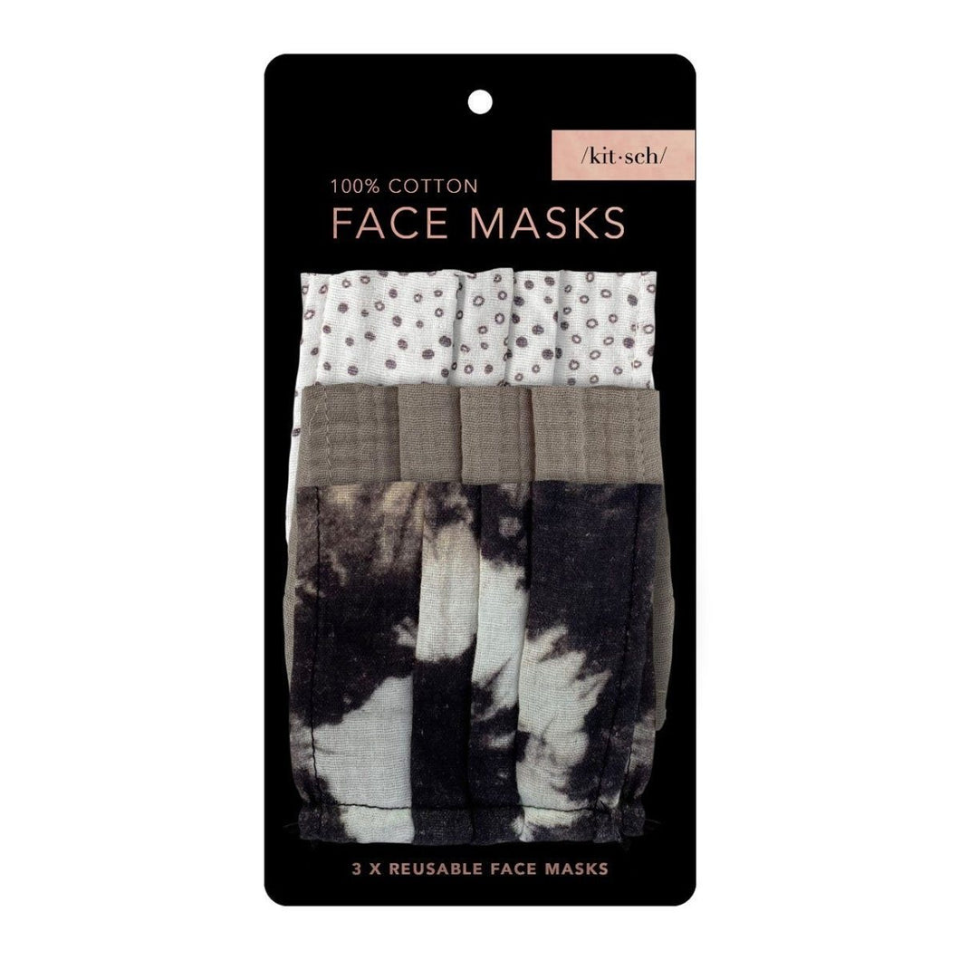 KITSCH 3-PACK COTTON MASKS