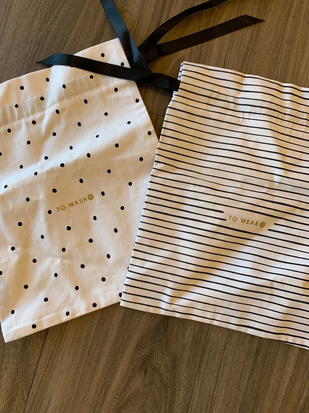 PURE BARRE DRAWSTRING SOCK BAGS