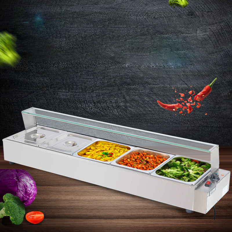 Tray Food Warmer Adjustable Temperature Hot Plate Buffet Server