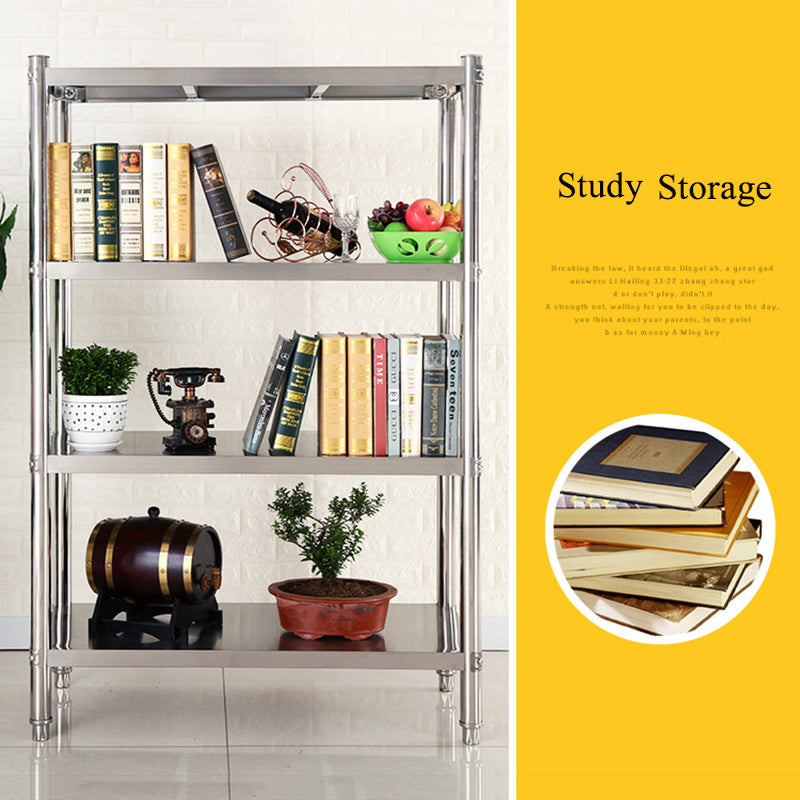 304-Grade Heavy Duty 4, 5 Tier Stainless Steel Plate Shelving
