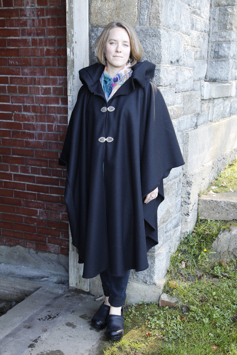 Old Port Wool and Textile Company, Portlander Merino Wool Cape - Black 3