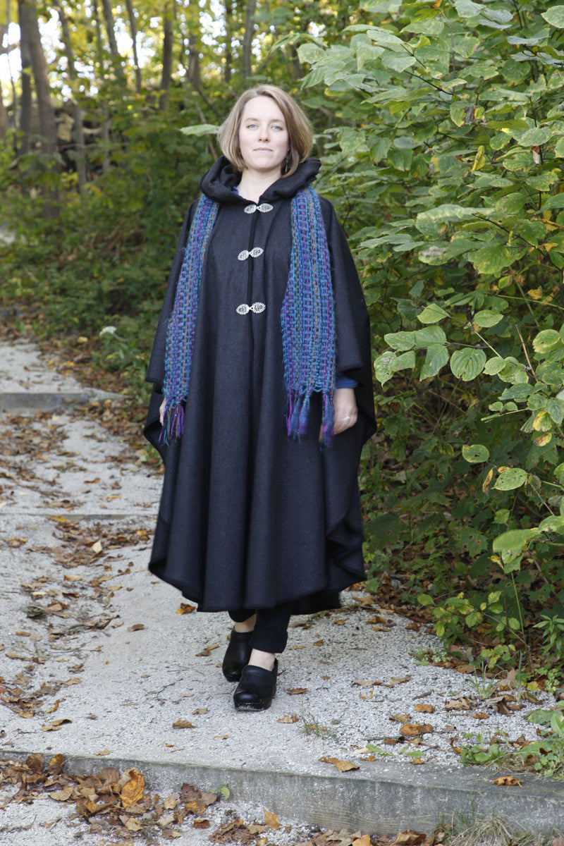 Old Port Wool and Textile Company, Portlander Merino Wool Cape - Black 2