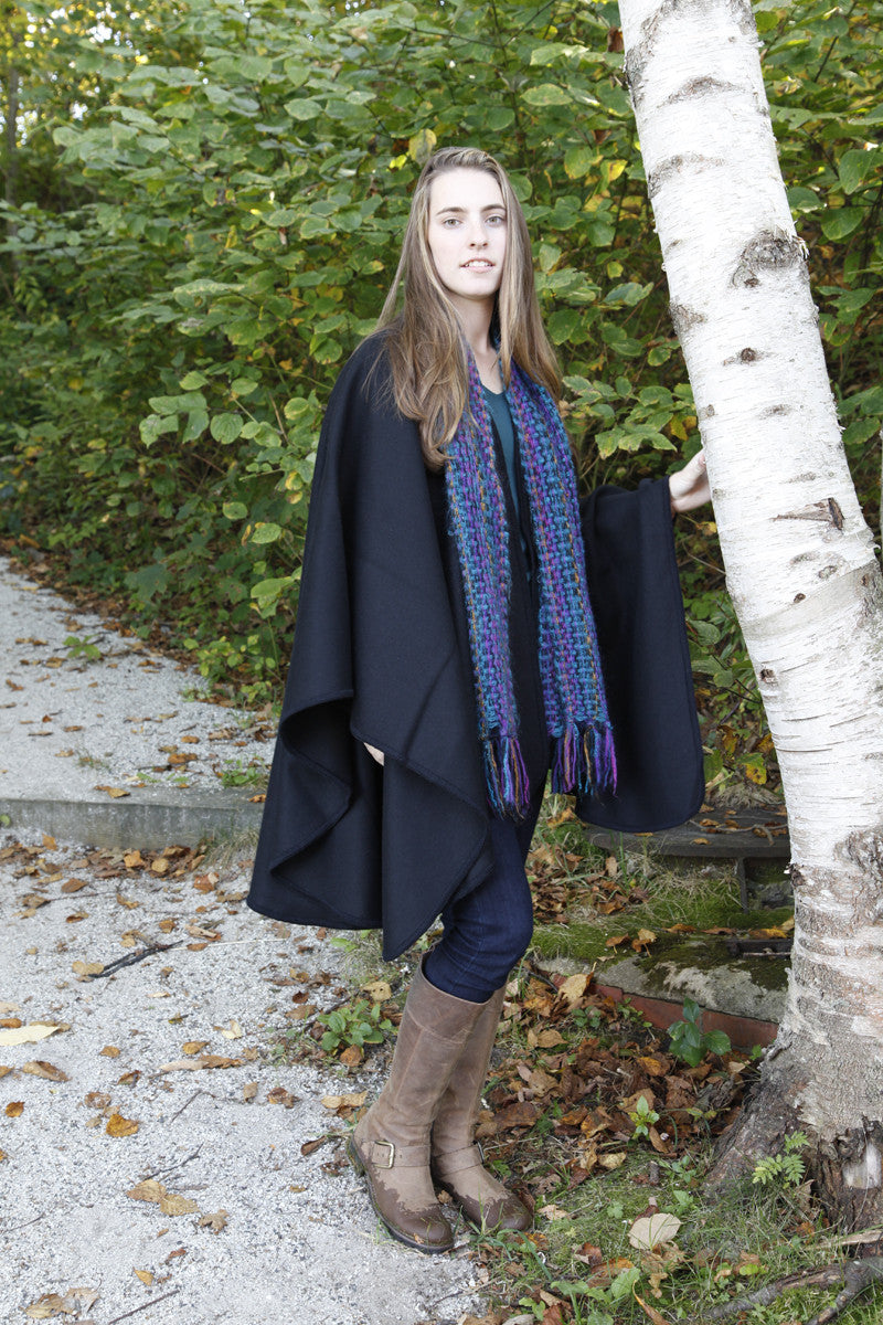 Old Port Wool and Textile Company Merino Wool Shawl Wrap - Black 2
