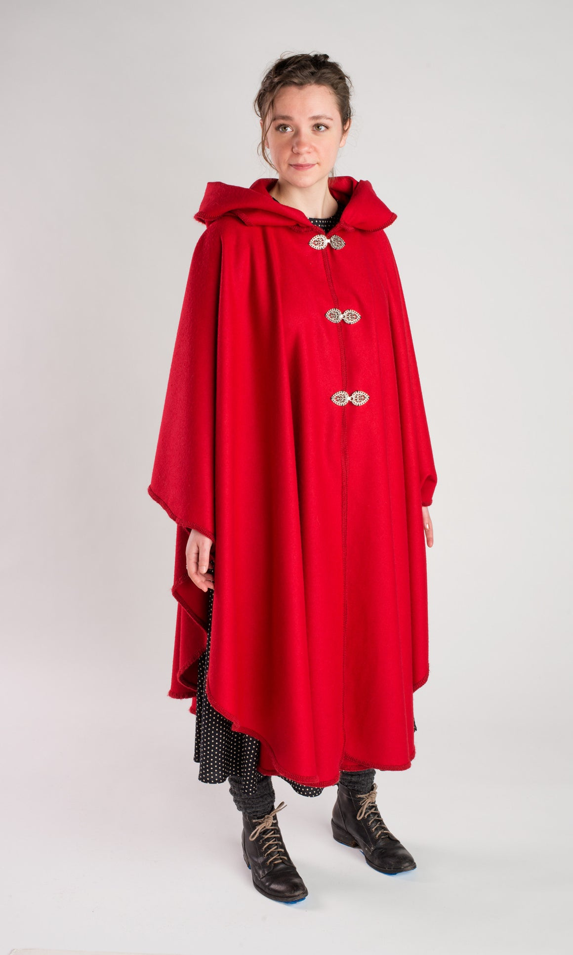 Casco Bay Merino Wool Cape - Cardinal