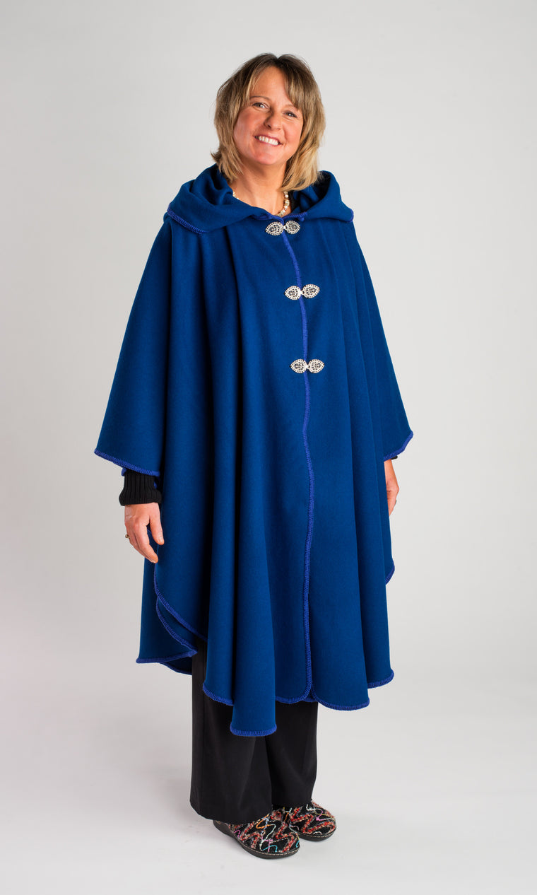 Casco Bay Merino Wool Cape - Admiral Blue