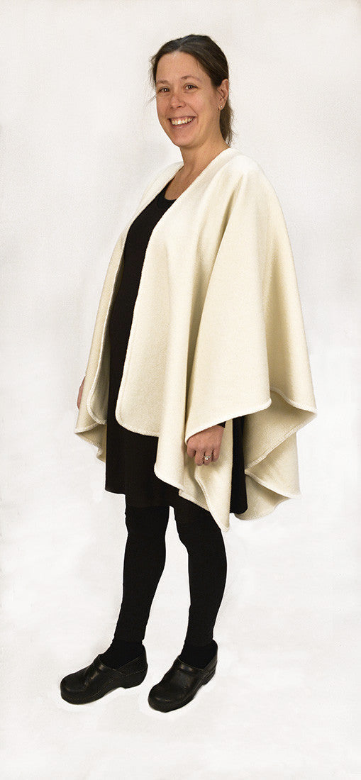 Calendar Island Merino Wool Shawl - Winter White