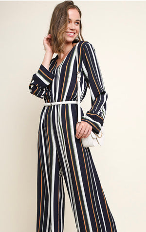 Navy Stripe Jumpsuit
