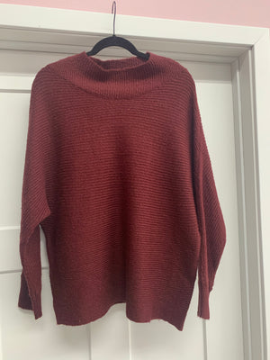 Why Wine Red sweater