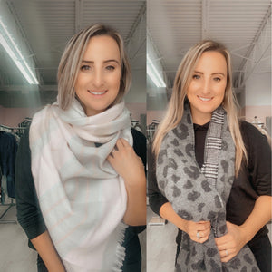 Two-tone scarves