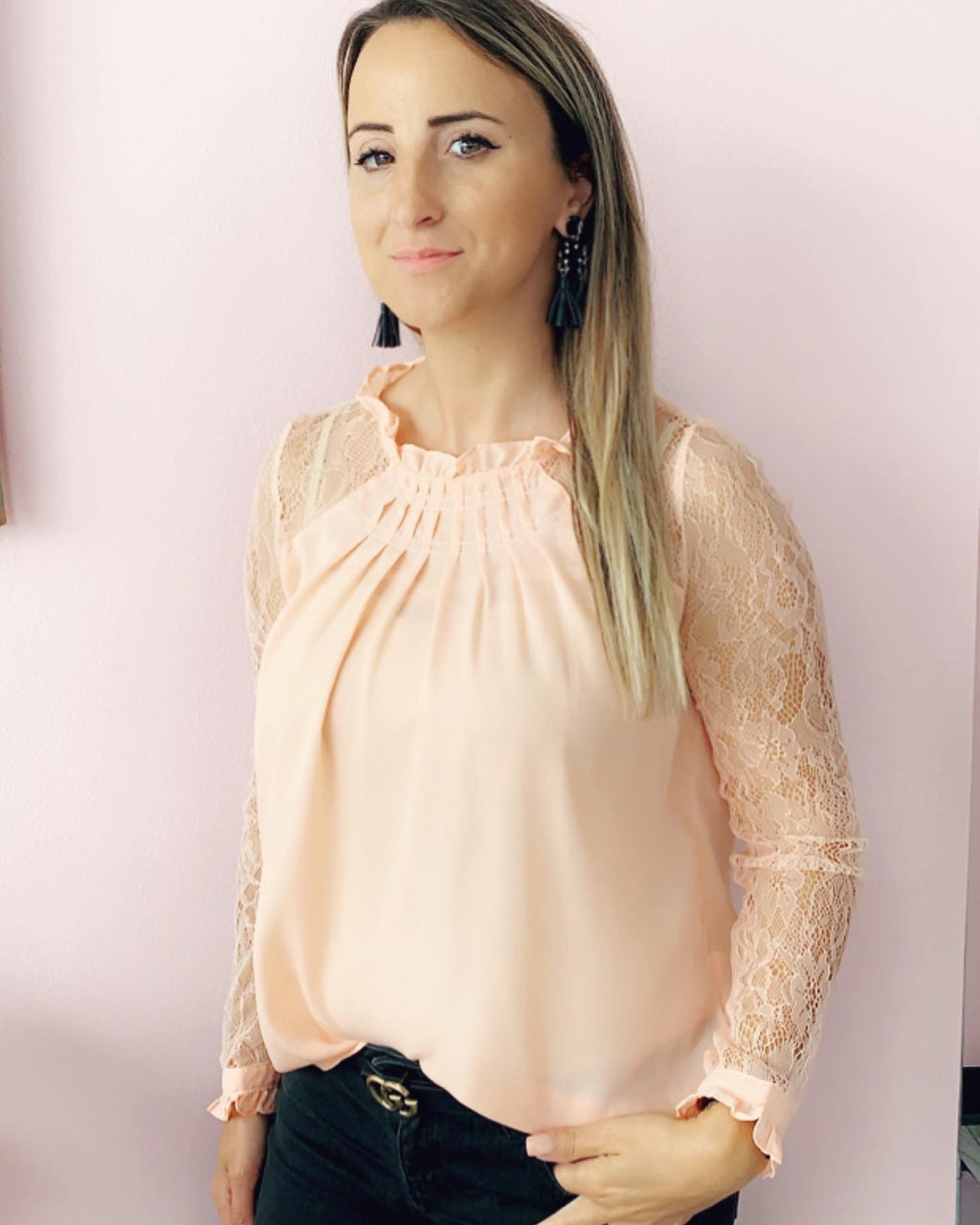 Mauve Lace top