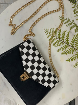 Checkered Purse
