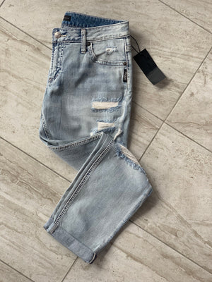 Silver Mid-Rise Jeans