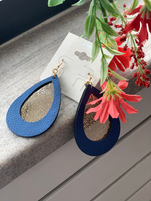 Royal Blue teardrop earrings