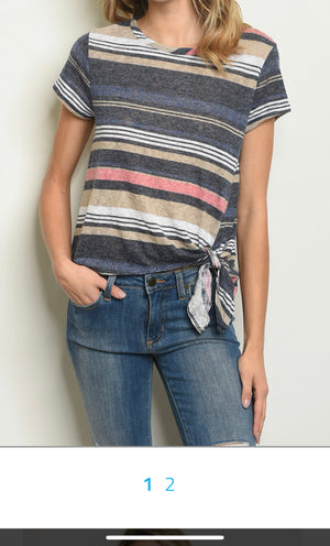 Navy stripes Top