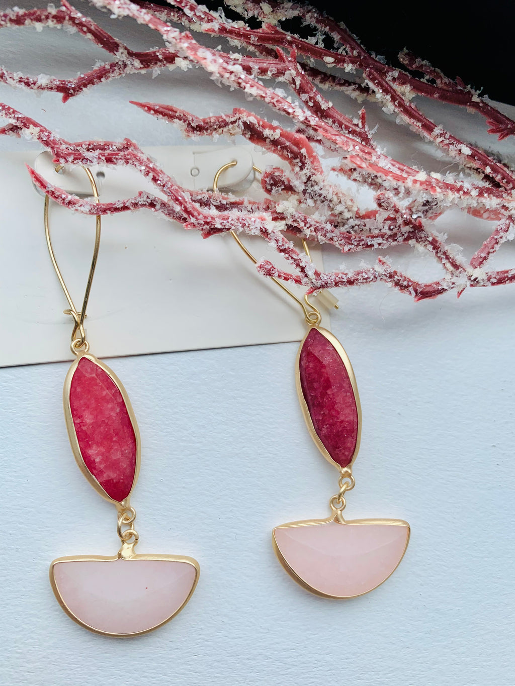 Cranberry Drop Earrings