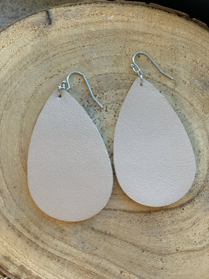 Monotone Leather Earrings