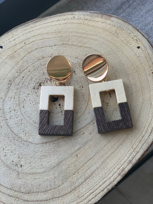 Waffle Block Earrings