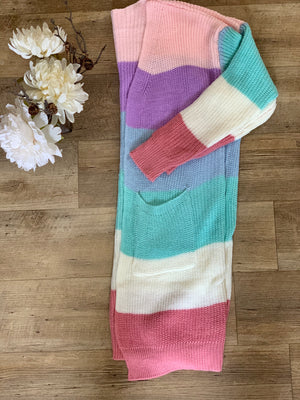Spring Color Block Cardigan