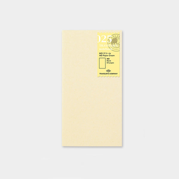 Traveler's Company Traveler's Notebook 025 MD Paper Cream Refill