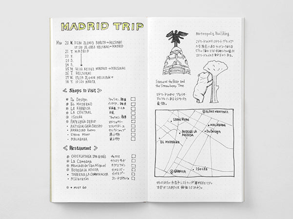 Traveler's Company Traveler's Notebook 026 Dot Grid Refill -