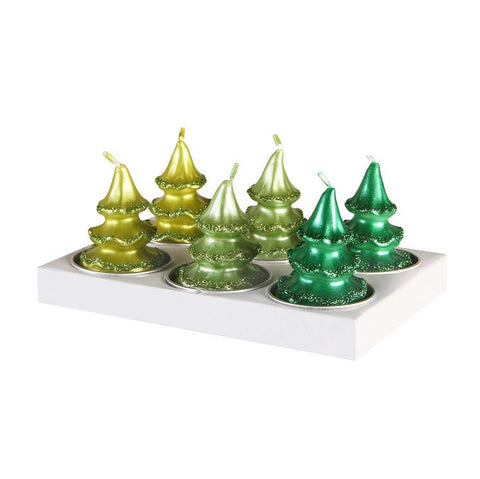 Candle Pine Tree - set of 6