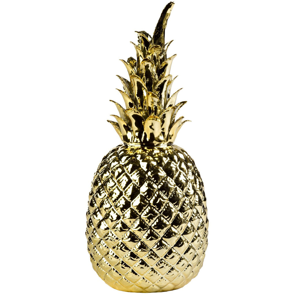 Ananas porcelænsfigur guld / Pineapple figurine gold - pt udsolgt/sold out