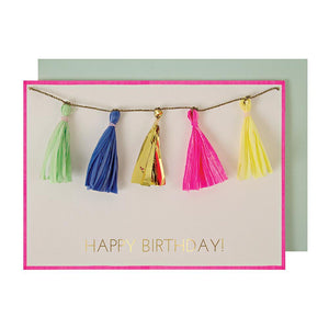 Tassel Happy Birthday Garland Card / Guirlande Kort