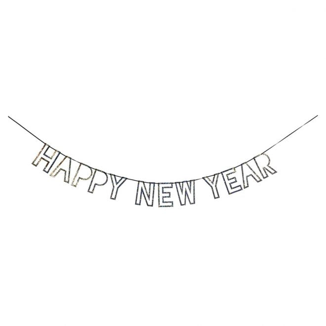 Silver New Year Garland