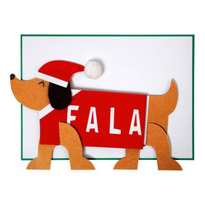 Sausage Dog Christmas Card