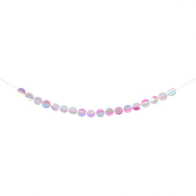 Iridescent Paper Circle Garland